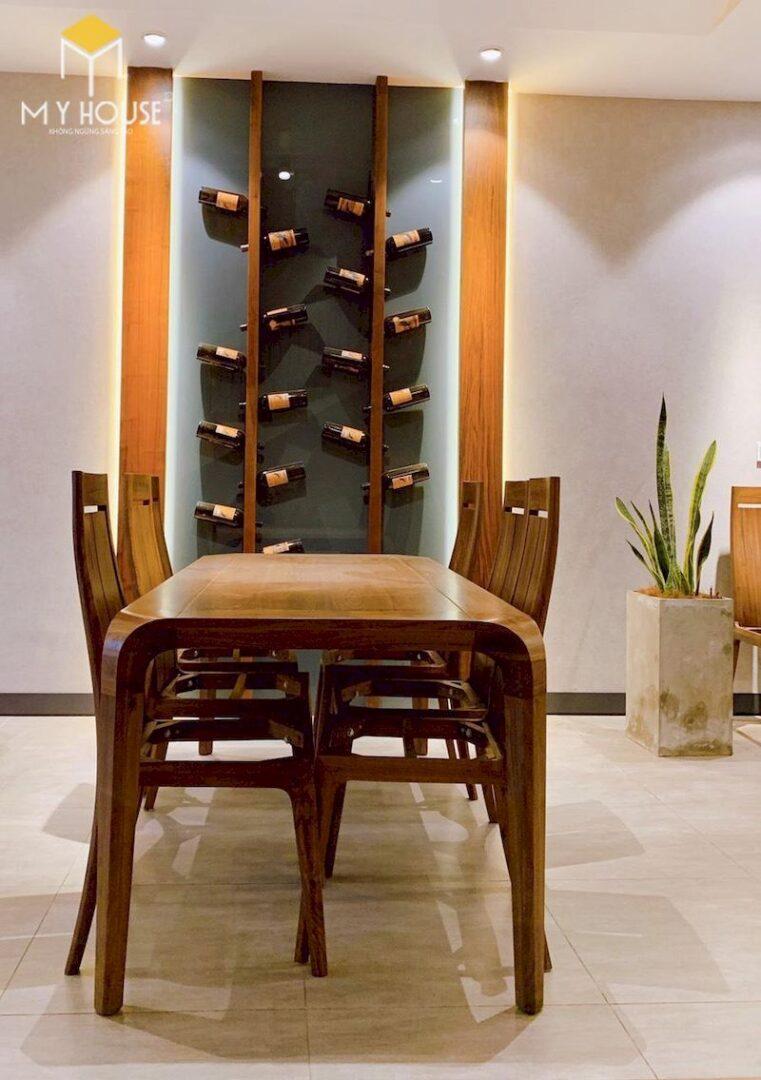 Bộ bàn ăn 6 ghế gỗ óc chó 1.8m