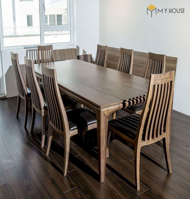 Vì sao bạn nên chọn bộ bàn ăn 6 ghế gỗ óc chó