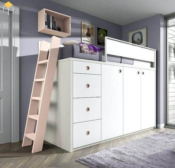 giường tầng kết hợp tủ quần áo cho người lớn - 12