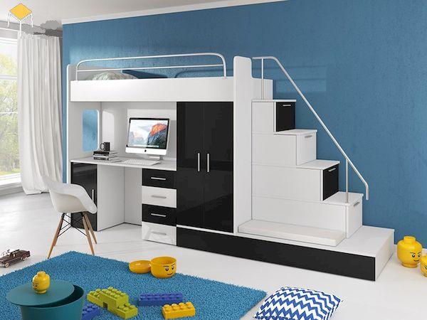 Giường tầng kết hợp tủ quần áo 3