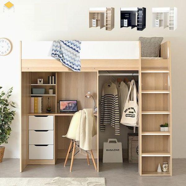 giường tầng thông minh kết hợp tủ quần áo