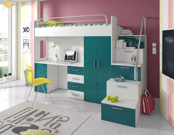 Thiết kế giường tầng kết hợp tủ quần áo