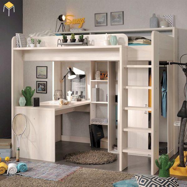 giường tầng kết hợp tủ quần áo cho người lớn