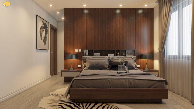Nội thất phòng ngủ gỗ veneer