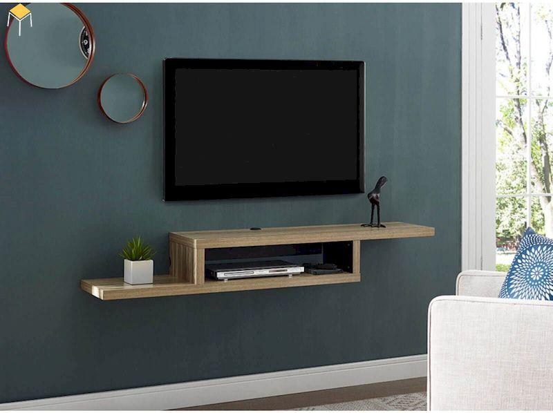 Kệ tivi treo tường phòng ngủ thiết kế đơn giản