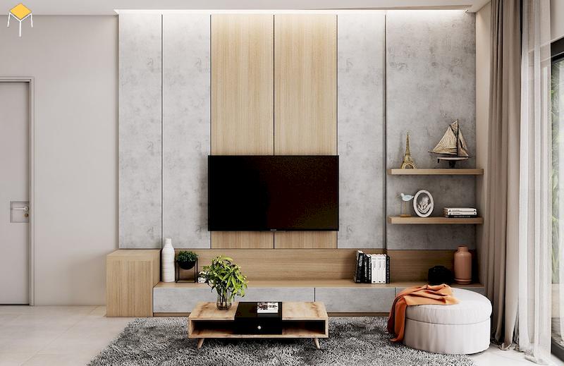 Kệ tivi treo tường có độ chắc chắn cao