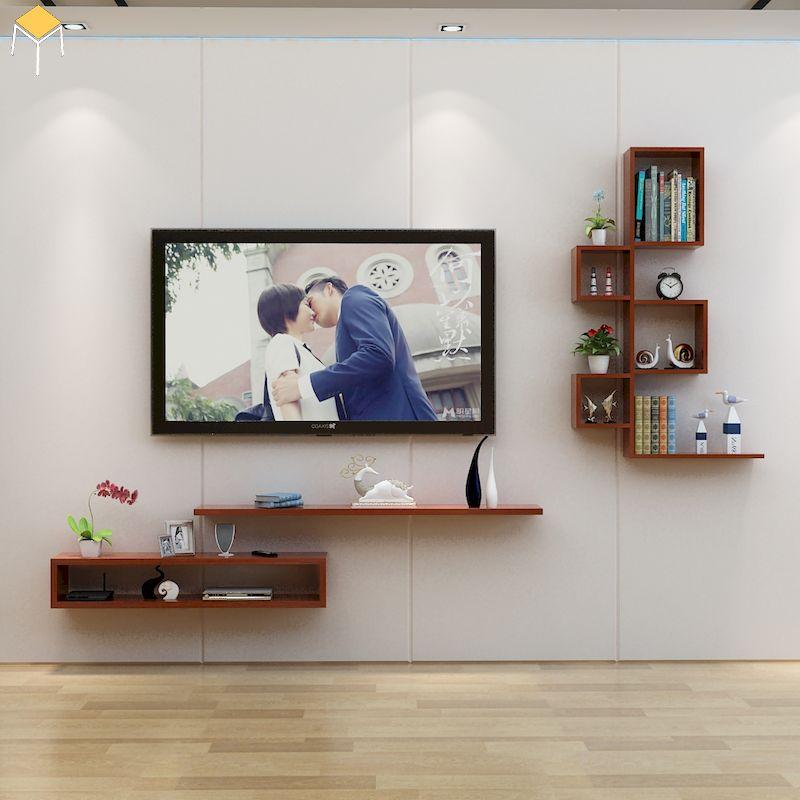Trang trí kệ tivi phòng ngủ đơn giản