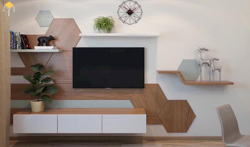 Báo giá kệ tivi treo tường gỗ tự nhiên, gỗ công nghiệp