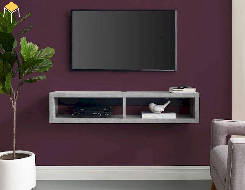 Kệ tivi treo tường phòng ngủ đơn giản