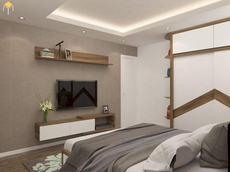Chọn chất liệu kệ tivi treo tường phòng ngủ