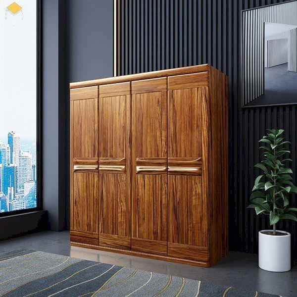 Điểm hạn chế của mẫu tủ quần áo gỗ tự nhiên 4 cánh
