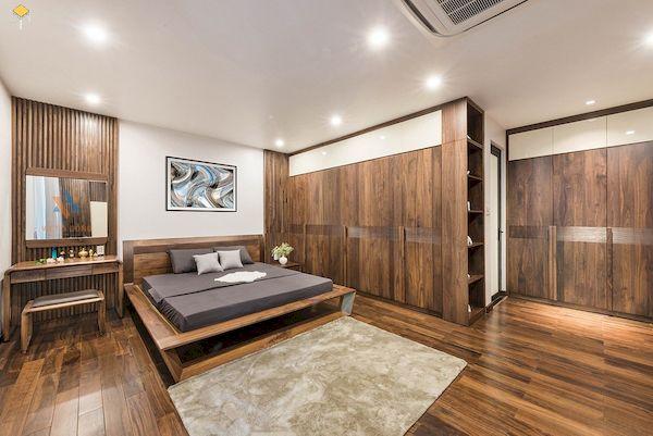 Ưu điểm của mẫu tủ quần áo gỗ tự nhiên 4 cánh
