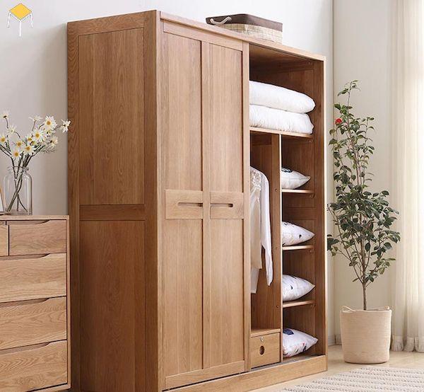 Mua tủ quần áo gỗ tự nhiên 4 cánh ở đâu giá tốt?