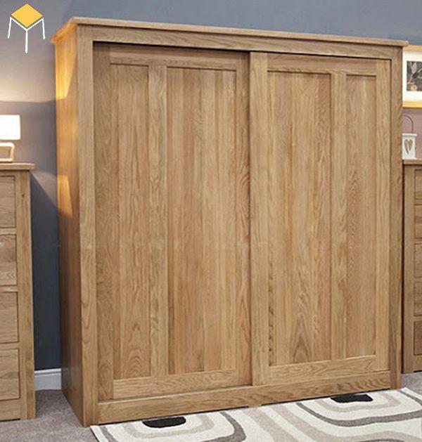 Mẫu tủ gỗ sồi