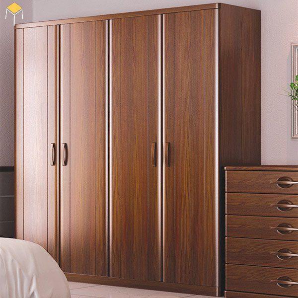 Kích thước trung bình của tủ quần áo gỗ tự nhiên 4 cánh