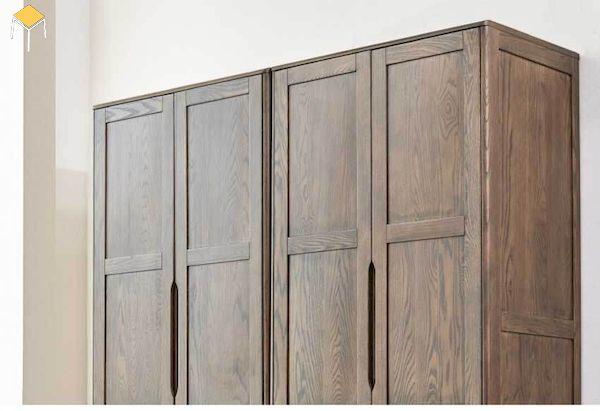 mẫu tủ quần áo gỗ tự nhiên 4 cánh gỗ óc chó