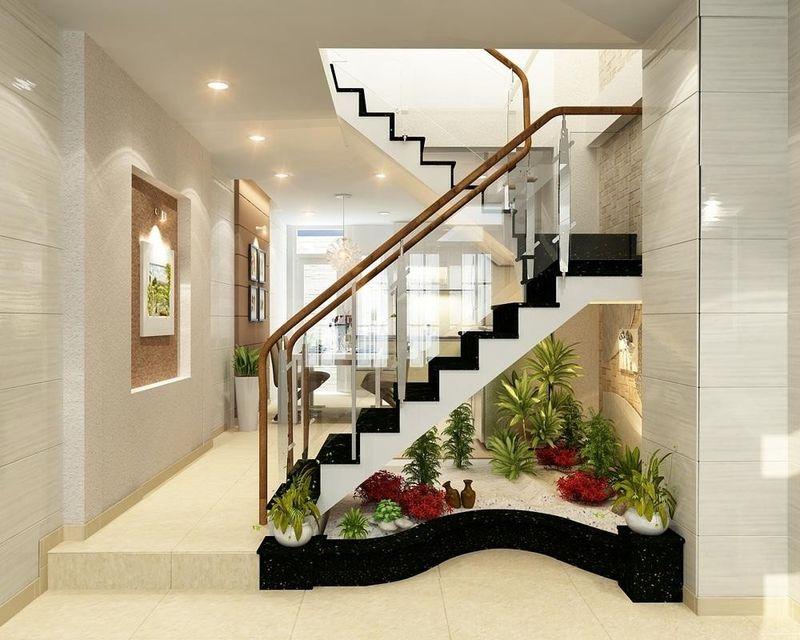 Mẫu thiết kế giếng trời trên cầu thang đẹp