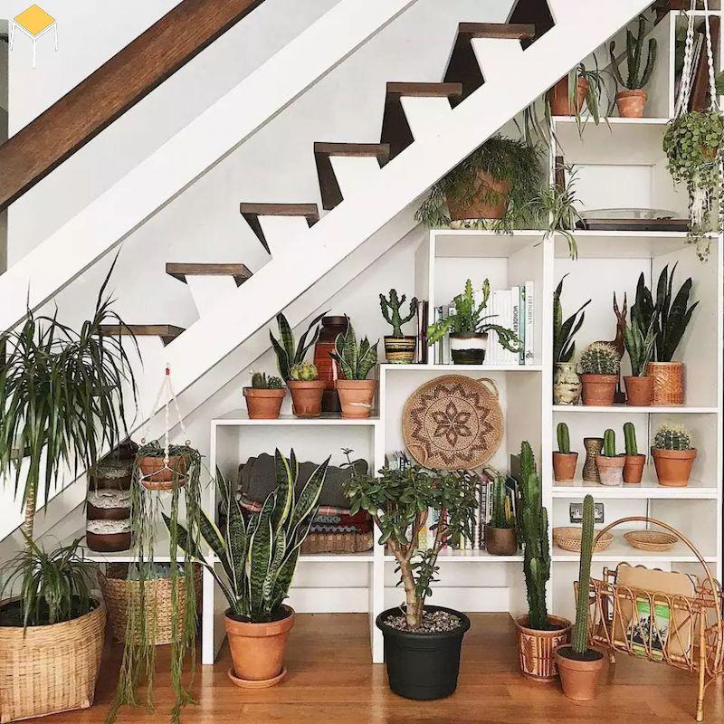 Mẫu trang trí cầu thang đẹp cho nhà tầng