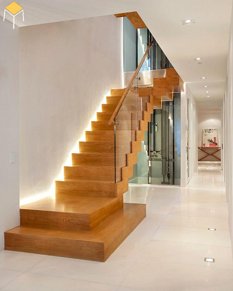 Trang trí cầu thang bằng đèn Led