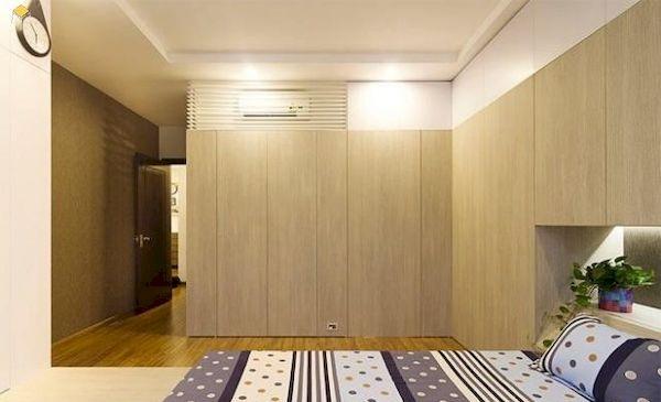 Tủ âm tường cửa lùa cho phòng ngủ