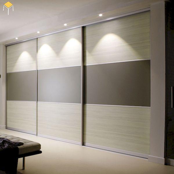 tủ quần áo gỗ sồi âm tường