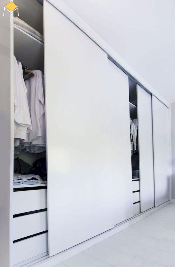 Tủ âm tường gỗ công nghiệp cho phòng ngủ
