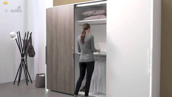 tủ quần áo gỗ âm tường