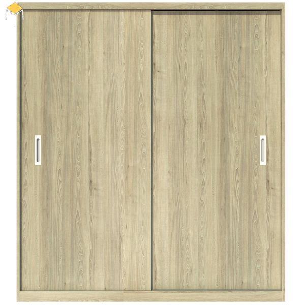 Tủ quần áo âm tường cửa lùa gỗ sồi