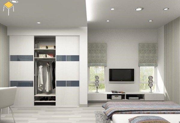 Thiết kế tủ âm tường - nội thất phòng ngủ