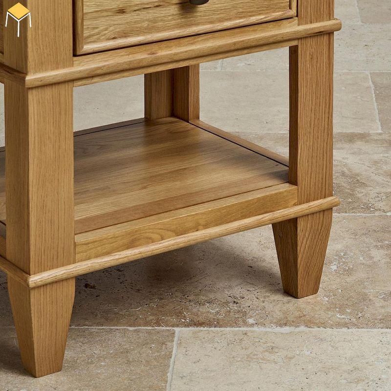 Mẫu tủ đầu giường gỗ sồi 2 ngăn