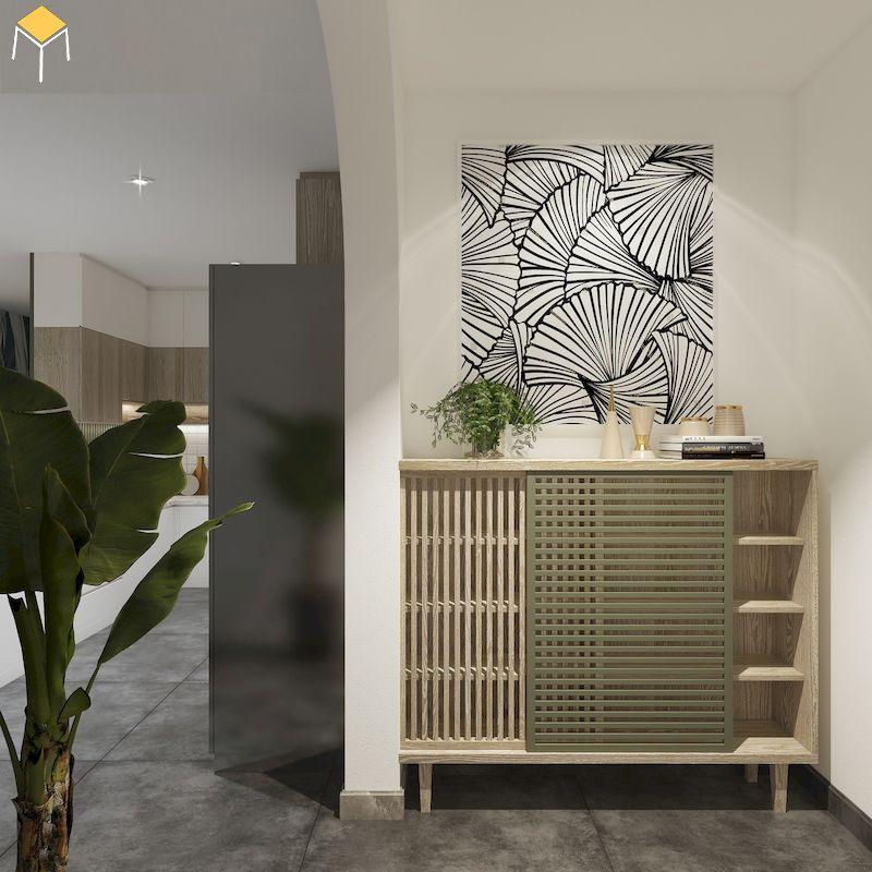 Thiết kế tủ giày gỗ đẹp cho chung cư