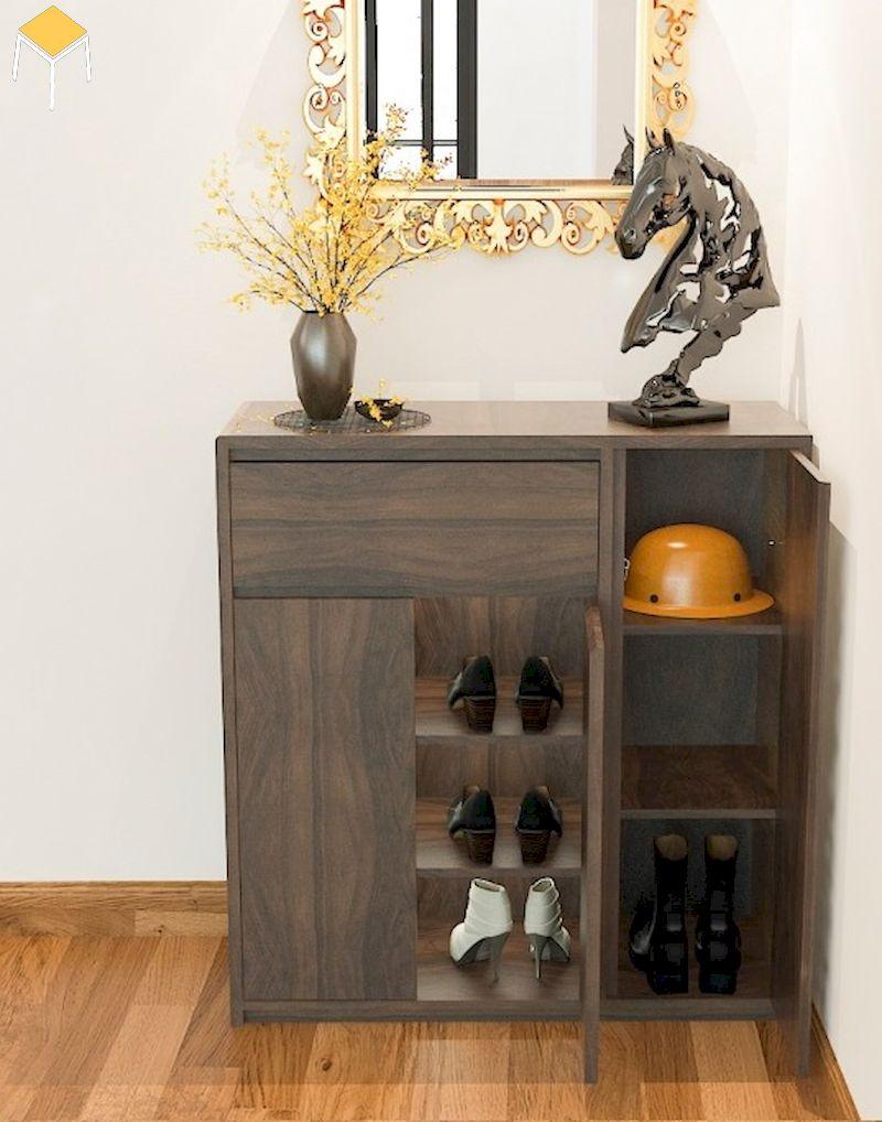 Vì sao nên tủ giày gỗ tự nhiên