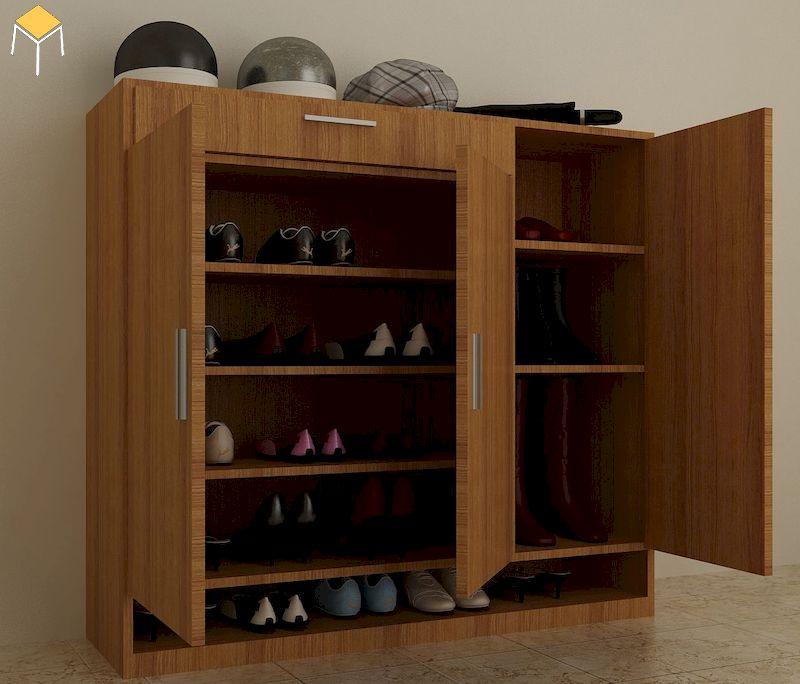 Tủ giày gỗ tự nhiên giá rẻ
