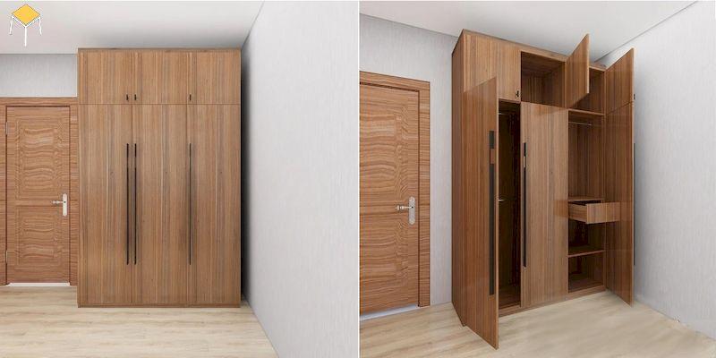 Tủ quần áo 3 cánh gỗ công nghiệp làm từ chất liệu gì?