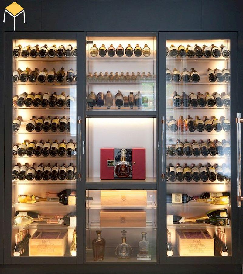 Mẫu tủ rượu âm tường đẹp