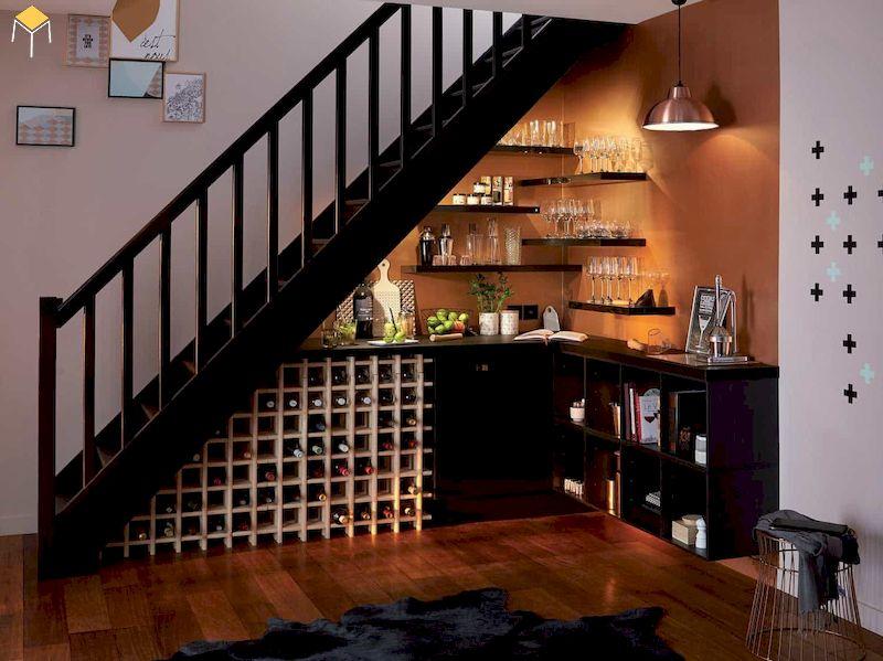 Ưu điểm của tủ rượu âm tường phòng khách