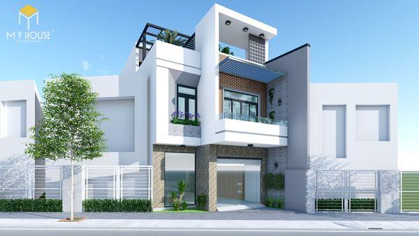 Bản vẽ thiết kế nhà phố mặt tiền 6m 3 tầng