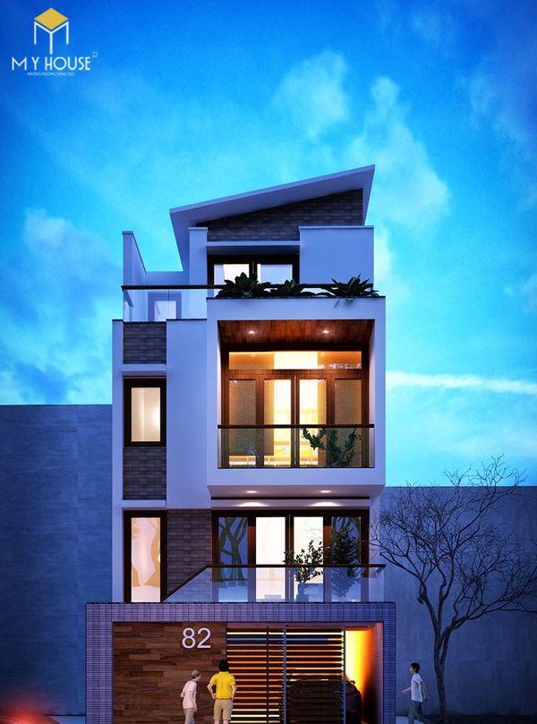 Mẫu bản vẽ nhà 4 tầng