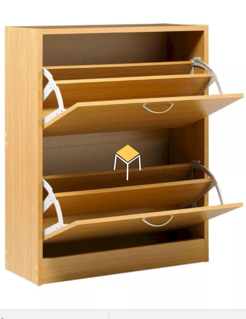 Tủ giày thông minh gỗ tự nhiên sồi