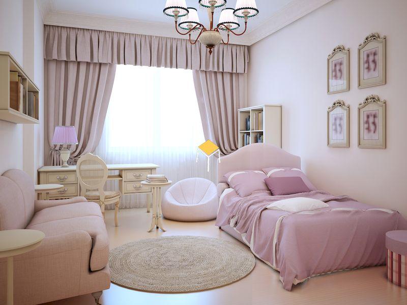 Phòng ngủ kiểu Hàn cho bạn nữ