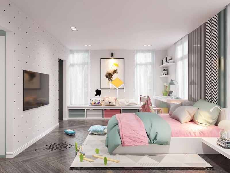 Màu sắc đẹp- phòng ngủ kiểu Hàn