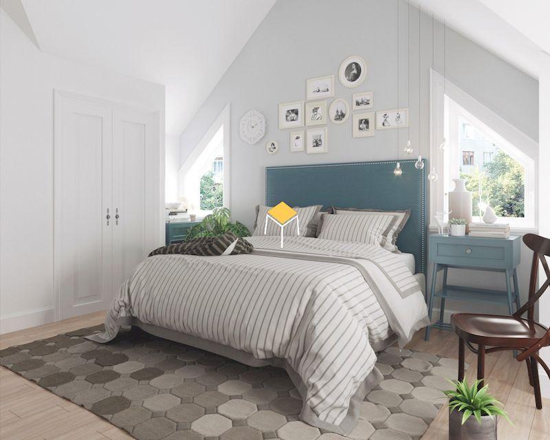 Decor phòng ngủ Hàn Quốc - sử dụng màu sắc