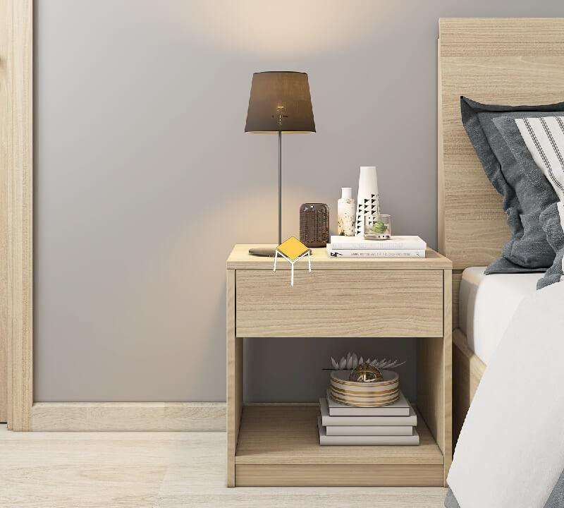 Đồ nội thất phòng ngủ tiện nghi gỗ tự nhiên