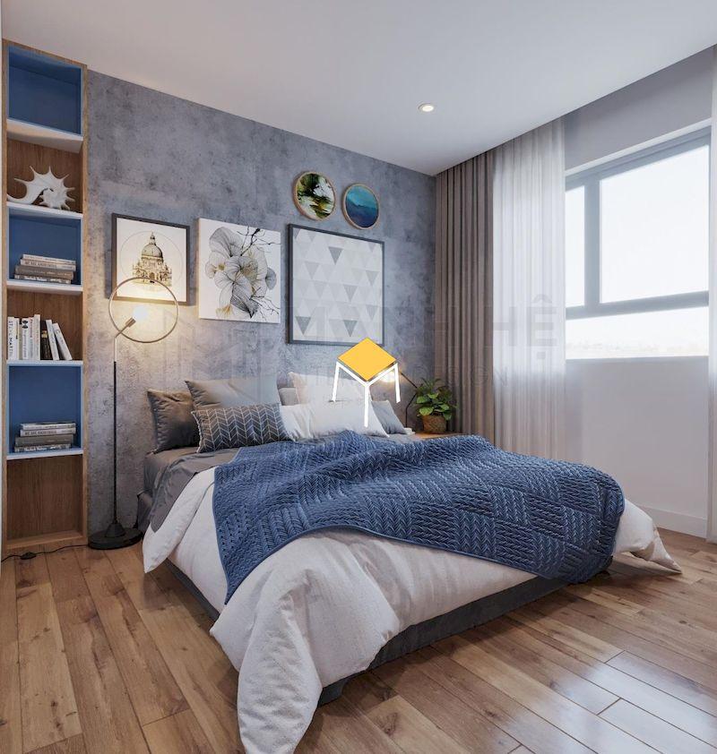 Decor phòng ngủ Hàn Quốc - Trang trí màu nổi bật