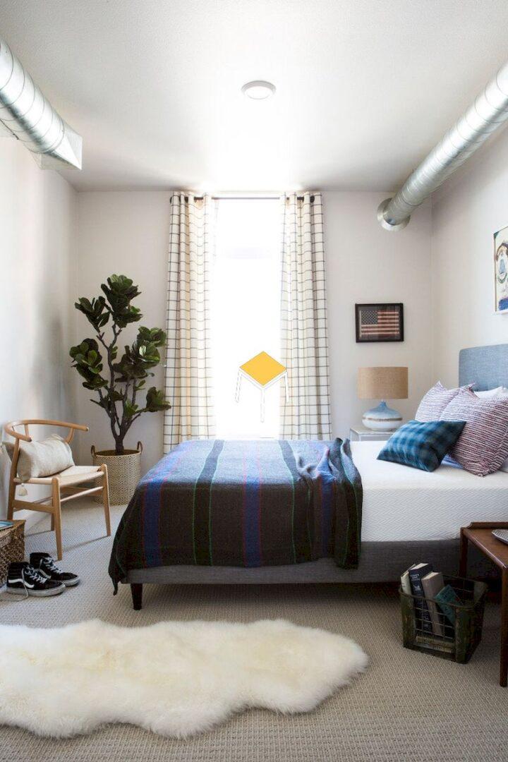 Decor phòng ngủ nhỏ đơn giản bằng màu sắc