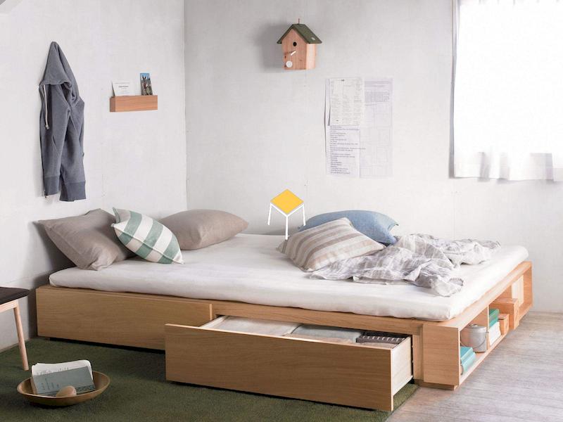 Decor phòng ngủ nhỏ đơn giản với nội thất đa năng