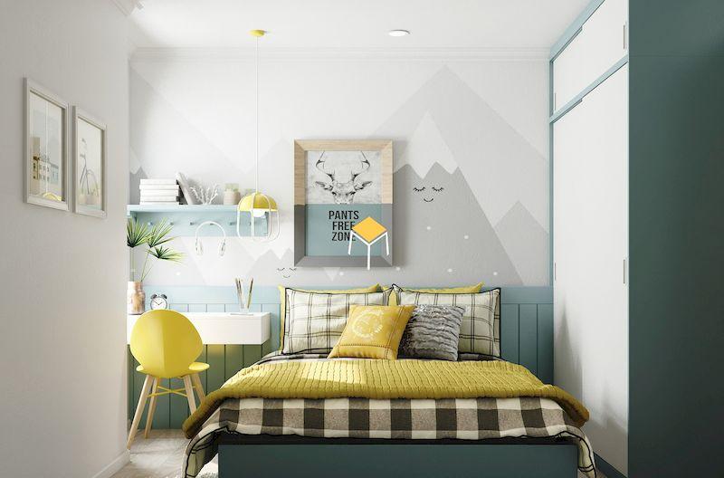 Decor phòng ngủ nhỏ đơn giản diện tích 6m2