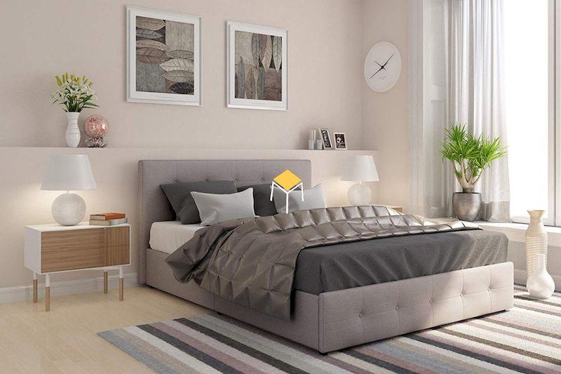 decor phòng ngủ nhỏ đơn giản bằng tranh treo tường