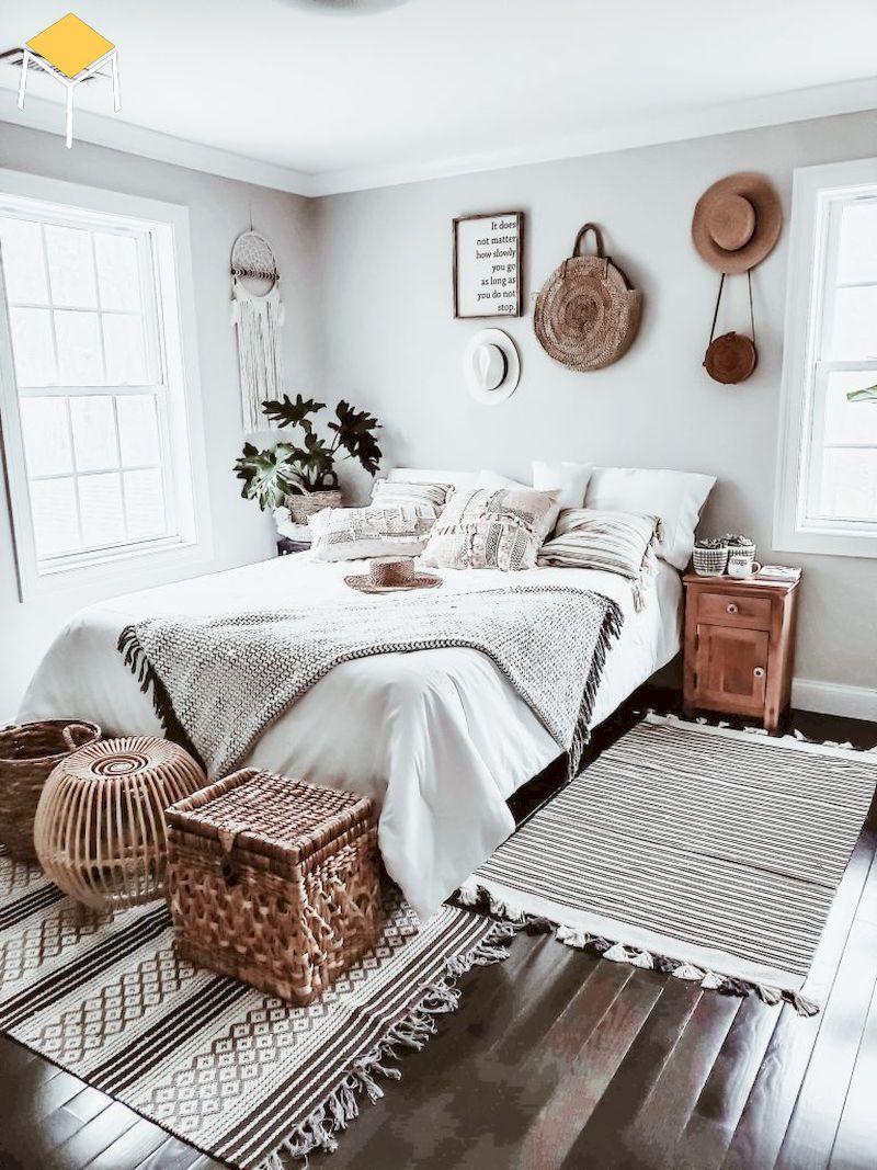 Decor phòng ngủ vintage bằng hoa văn thổ cẩm