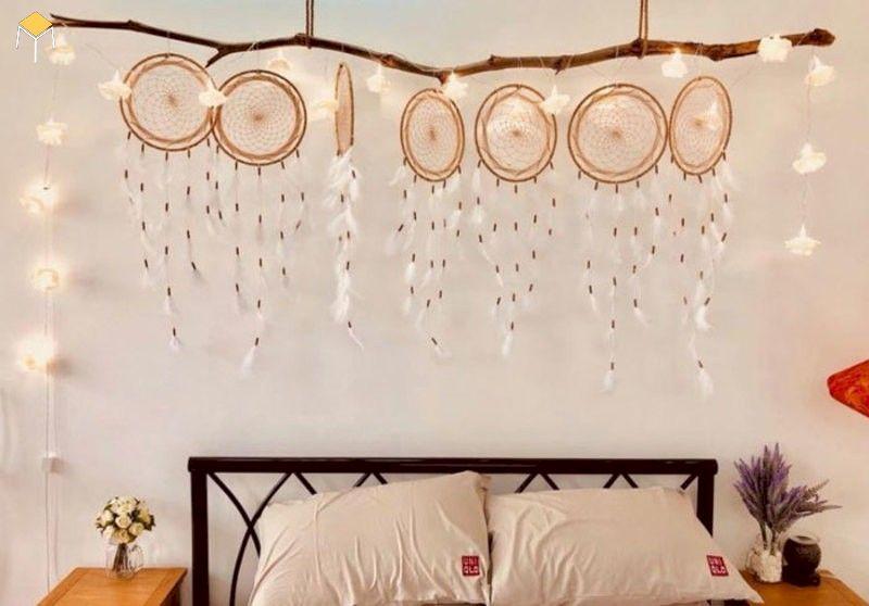 Decor phòng ngủ vintage bằng Dreamcatcher
